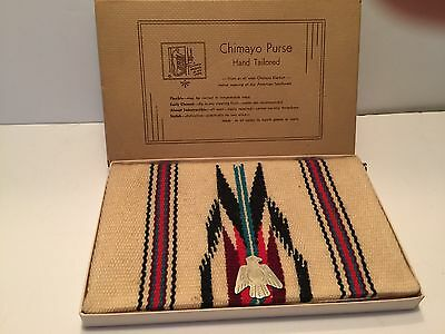 Chimayo Vintage 1940's New Mexico Wool Hand Woven