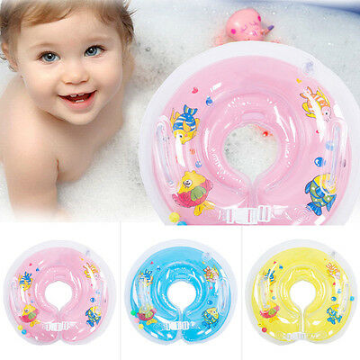 Inflatable Circle/Star Newborn Neck Float Infant Baby Swimming Swim Ring Safety