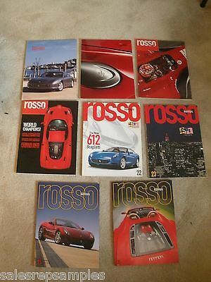 8- issues of ROSSO FERRARI OFFICIAL  18, 19, 20, 21, 22, 23, 24, 25   2001-2006