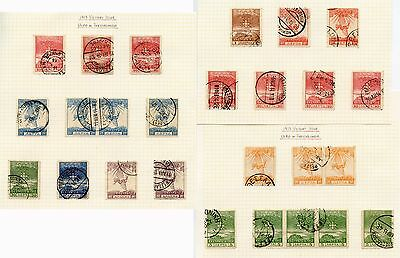 GREECE 1913 VICTORY ISSUE THESSALONIKA POSTMARKS +VARIETIES 26 stamps COLLECTION