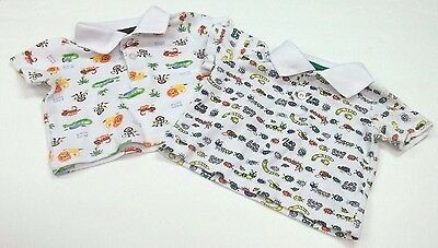 Kidgets Shirt 0-6 Months Baby Boy Lot of 2 Bugs Jungle Short Sleeve White