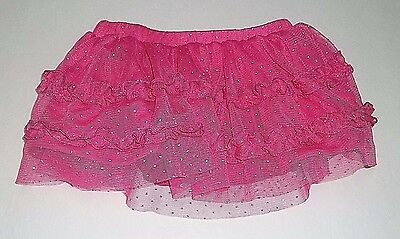 Baby Girl Skirt Size 3-6 Months Small Wonders Pink Silver Polka Dots