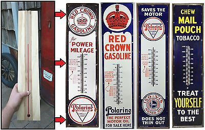 "Replacement 23"" Thermometer Tube for 6ft Porcelain Sign Working w/ Wood Cradle"