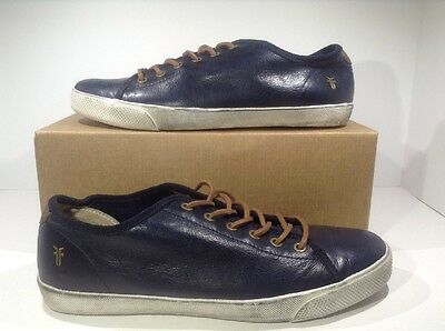 Frye Chambers Low Top Blue Leather Shoes Men's Size 10 Z8-601*