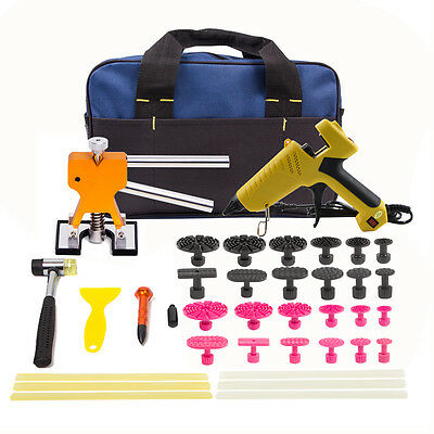 PDR Hail Puller Lifter Kit Paintless Dent Repair Tools Hammer Remove Glue Sticks