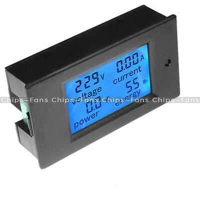 New 50A DC Digital LCD Power Panel Meter Monitor Power Energy Voltmeter Ammeter