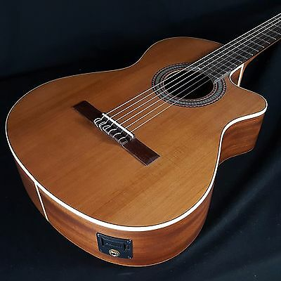 NEW Alhambra 1OP-CW EZ US Open Pore Acoustic Electric Classical Guitar w/Bag