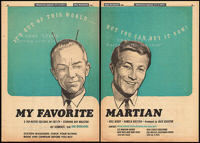 MY FAVORITE MARTIAN__Original 1966 Trade AD / TV syndication promo__BILL BIXBY