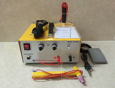 80A DX-808 Pulse Sparkle Spot Welder Gold Silver Jewelry Machine 110V or 220V