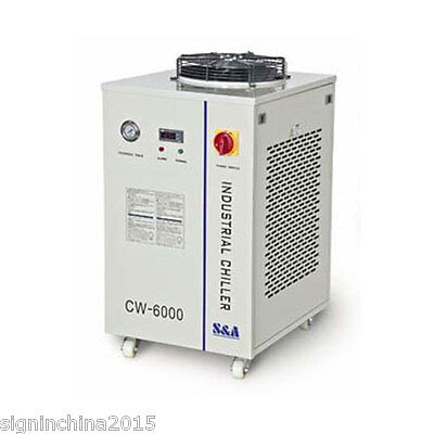 220V 50HZ CW-6000AI Industrial Water Chiller for One CO2 100W RF Laser Tube