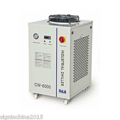 220V, 50HZ CW-6000AH Industrial Water Chiller for 3x100W/4x80W CO2  Laser Tubes