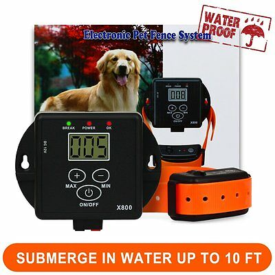 Electric Dog Fence Wireless Shock Collar Waterproof Hidden * 2 Dog System * USA