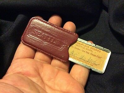 Vtg Charge Plate Charga-Plate Seattle Old School Credit Card Antique Old!