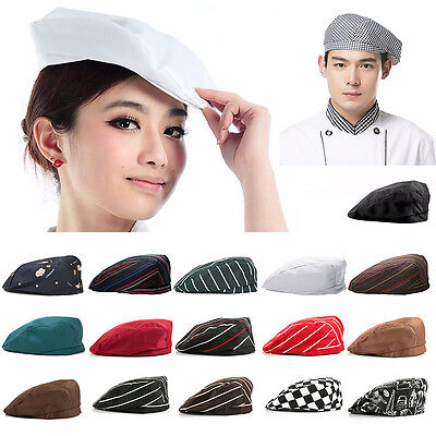 Stylish Men Women Chef Hat Catering Baker Kitchen Cook Duckbill Beret Golf Caps