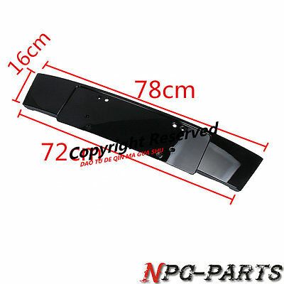 Front Face Bright Black License Plate Installation Bracket For AUDI Q7 10-15 4L