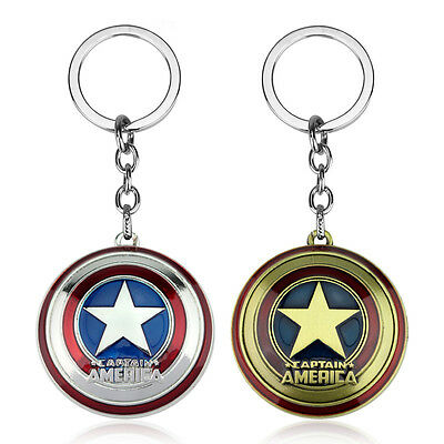 Marvel Comics Super Hero Captain America Avengers Keychain Purse Bag Keyrings