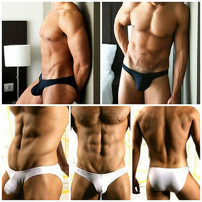 Fashion Men's Soft Comfy Cotton Bulge Pouch Briefs Trunk Thongs Shorts Underwear