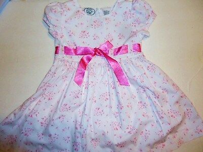 Girls LAURA ASHLEY sz 18m month dressy pink flowers PaRtY EASTER dress 18 M