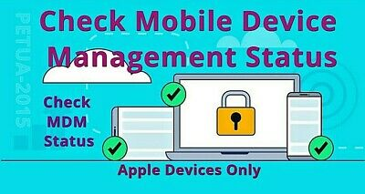 Check Mobile Device Management (MDM) Status For iPhone, iPad, iOS Devices