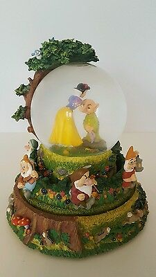 Snow White And The Seven Dwarfs Musical Rotating Disney Snow Globe