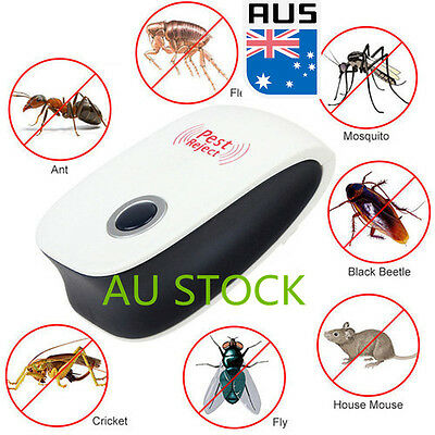 Electronic Ultrasonic Repeller Anti Mouse Mice Cockroach Bug Rat Kill Repellent