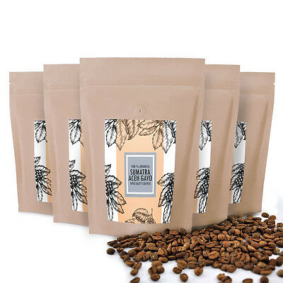 Authentic Kaffee  Sumatra Gayo Best Bean Fresh Roasted Ground Coffee 3.52oz
