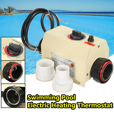 3KW 220V Swimming Pool Heating Machine Bath SPA Electric Water Heater Thermostat