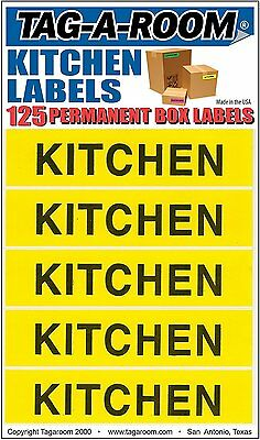 Tag-A-Room Color Coded Home Moving Box Labels StickersKitchen