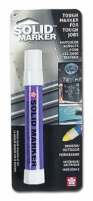 Sakura Solidified Paint Solid Marker, 14 to 392 Degrees F, White