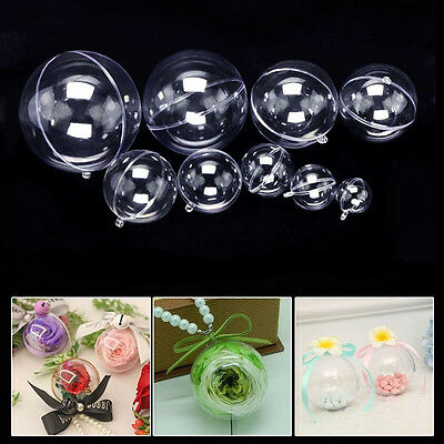 8 Set 16pcs DIY Clear Plastic Bath Bomb Mold 12/10/9/8/7/6/5cm Christmas Ball