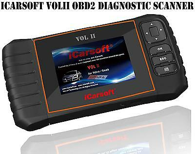 iCarsoft VOL II For VOLVO SAAB OBD2 OBDII Car Diagnostic Tool SRS ABS Code Reset