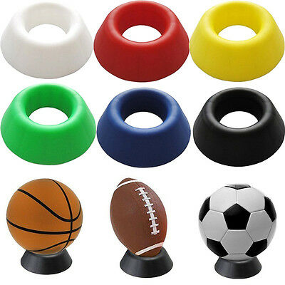 Basketball Football Soccer Rugby Plastic Display Stand Mount For Box Case