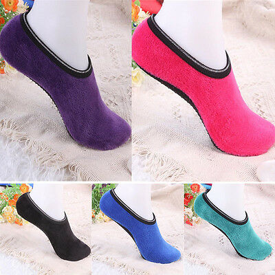 New Socks Thickened Non-slip Rubber Dots Women Fitness Yoga Warm Sports Socks
