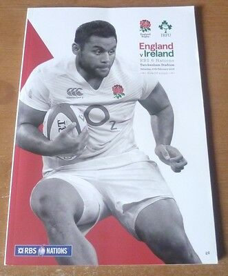 2016 - England (Grand Slam) v Ireland, Six Nations Match Programme.