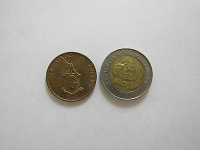 Lot of 2 Different Philippines Coins - 1944 and 2006 - Circulated