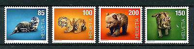 Switzerland 2017 MNH Baby Animals Bears Otters Lynx Wolf 4v Set Stamps