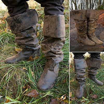Redbeard Medieval / Pirate Antique Synthetic Leather Boots LARP
