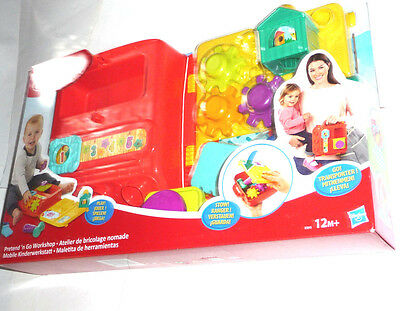 Playskool Pretend 'n Go Workshop mobile Kinderwerkstatt Werkzeug mit Koffer Neu