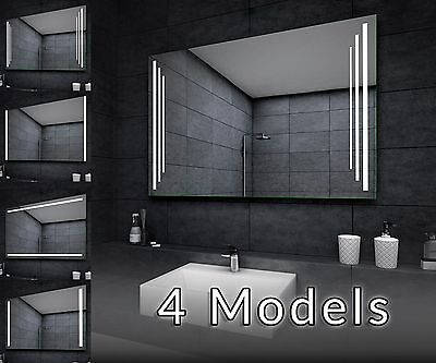 LED Illuminated Bathroom Mirror Z02 Custom Size Various Models
