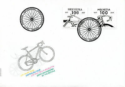 Switzerland 2017 FDC Bicycle 200th Anniv 2v Set Cover Bikes Bicycles Stamps