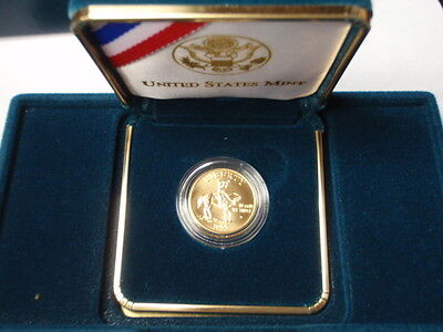 1995 $5 Gold Civil War Uncirculated Commemorative Coin Complete with boxes & COA