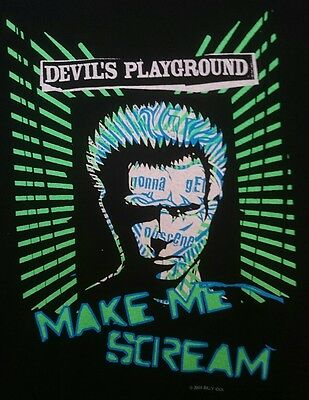 Official 2005 Billy Idol Devil's Playground Make Me Scream Shirt 80s Rock N Roll