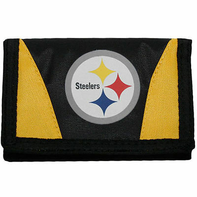 NFL Pittsburgh Steelers Black and Gold Chamber Tri-Fold Wallet
