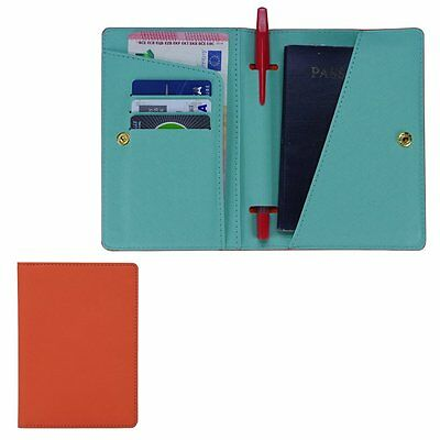 Bluezoon Multi-function Slim Travel Passport Cover Pouch Credit Id Card Holder