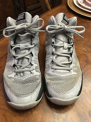 Boys/youth  Grey Nike Air High Top Basketball Shoes Size 5.5