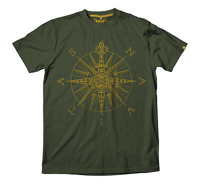 Navitas Apparel Carp Fishing Green Direction Tee T-Shirt *All Sizes Available*