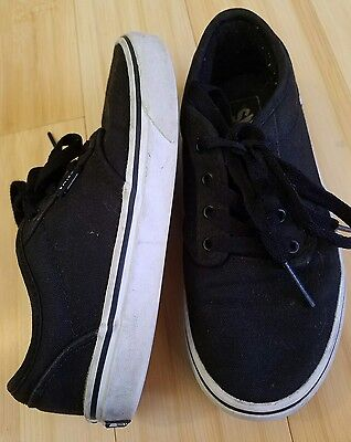 VANS BLACK SNEAKERS YOUTH  SHOES sz 2.5Y