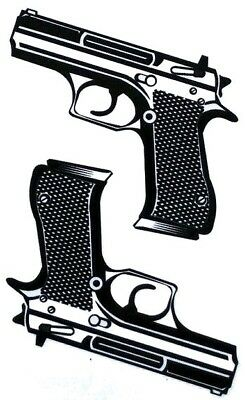 10x6cm Sheet-High-Quality-Fake-Tattoo-Black-Gun-Waterproof-Party-Temporary
