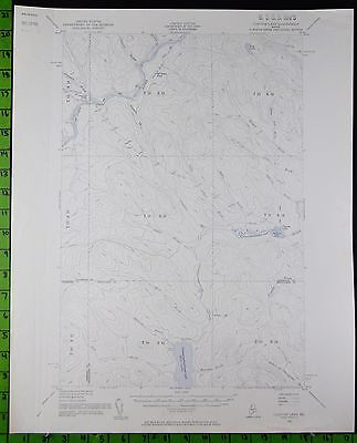 Clayton Lake Maine 1955 Antique USGS Topographic Map Printed 16x20