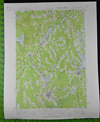 Pittsfield Newport Maine 1955 Antique USGS Topographic Map Printed 17x21